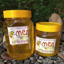 Мед с акации,  Вес 1100 грамм