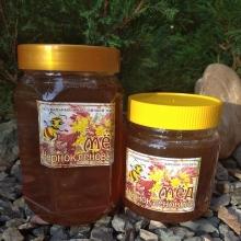 Мед чернокленовый, вес 1100 гр