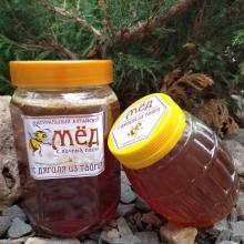 Мед с дягиля из тайги, Вес 1100 гр