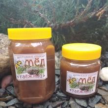 Мед таежный, Вес:700 грамм
