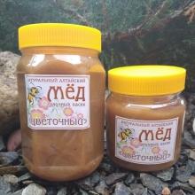 Мед цветочный, Вес 700 грамм